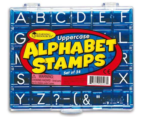 Alphabet-Stempel Grossbuchstaben