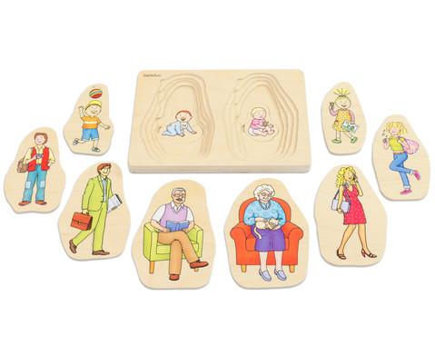 Schichtenpuzzle Oma  Opa