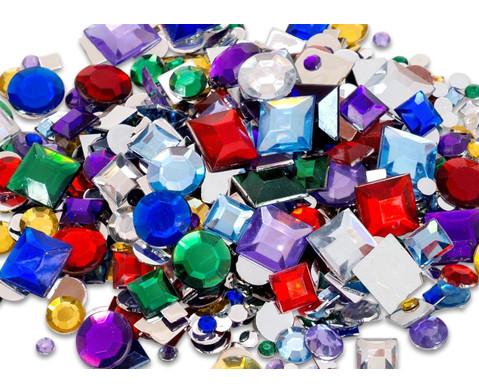 800 Deko-Steine in versch Farben und Formen-2