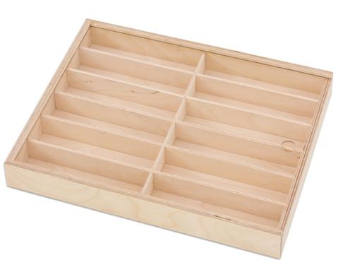 Leere Holzlade flach mit Plexiglasdeckel 37 x 29 x 45 cm-2