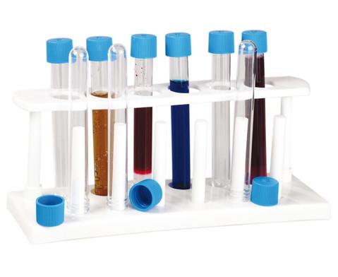 Reagenzglas-Staender inkl 6 Reagenzglaeser-1