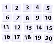 Zahlenplättchen 0-20