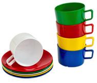 Tasse und Untertasse im Set