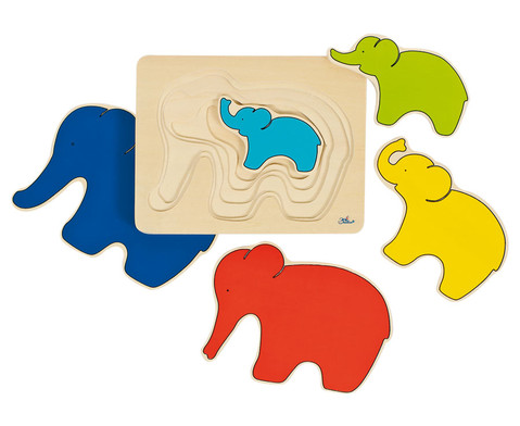 Schichtpuzzle Elefant-1