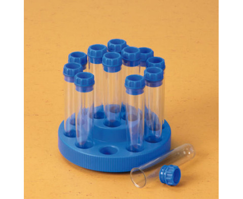 Reagenzglaeser im Drehgestell 14 Stueck-2