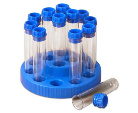 Reagenzglaeser im Drehgestell 14 Stueck