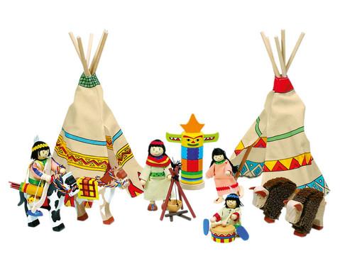 Biegepueppchen Indianerlager 14-tlg