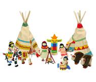 Biegepüppchen Indianerlager, 14-tlg.