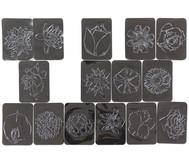 Rubbel-Platten: Blumen  16-tlg. Set