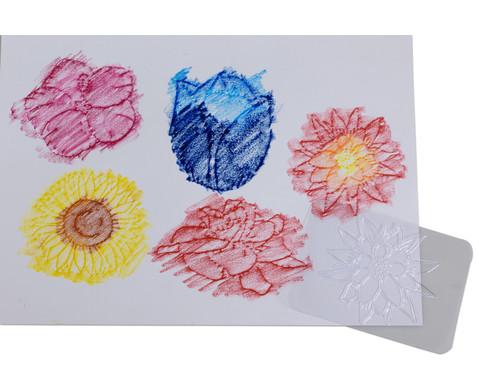 Rubbel-Platten Blumen  16-tlg Set-3