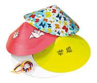 12 Chinesische Blanko-Hüte