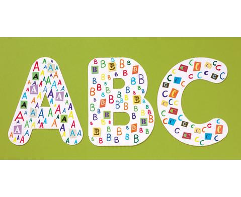 Gestanzte Collage Buchstaben 3 Boegen-3