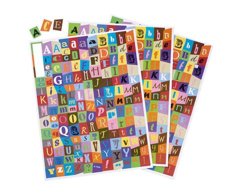 Gestanzte Collage Buchstaben 3 Boegen-1