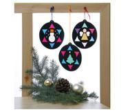 Weihnachts-Fensterbilder, 12 Stück
