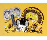 Wilde Tiermasken, 8 Stück
