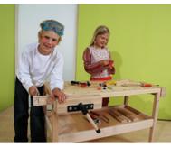 Werkbank in Kindergröße