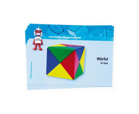 5 Magnetwuerfel-Spielkarten