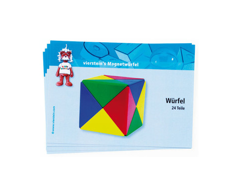 Magnetwuerfel-Spielkarten 5 Stueck-1