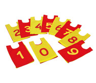 Zahlenhemden von 0 - 9, 10 Stück