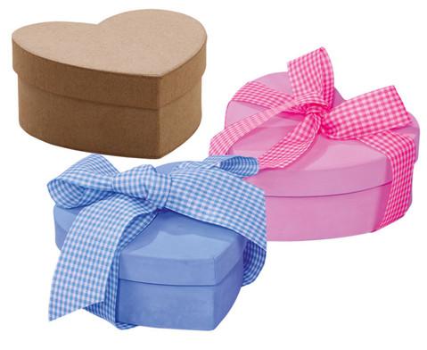 Blanko-Herzdosen aus Karton 10 Stueck