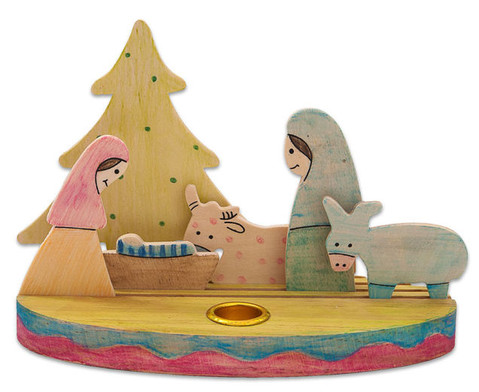 Weihnachtslicht Krippe zum Selbstgestalten-5