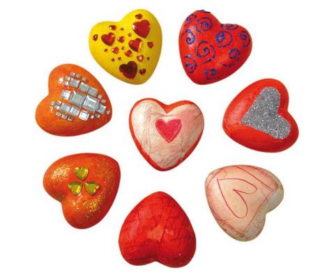 12 Styropor-Herzen