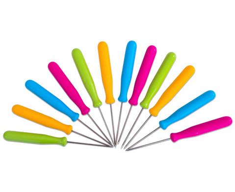 Prickelnadeln farbig 10er Set