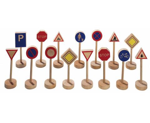 Verkehrszeichen aus Holz 15-teilig-1