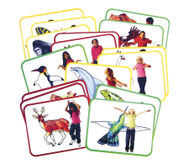 Yoga-Karten Tiere, 16 Stück