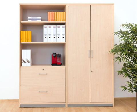 flexeo schrank mit 4 einlegeb den. Black Bedroom Furniture Sets. Home Design Ideas