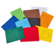 Ausnäh- oder Stickkarton, 40 Blätter mit 10 vorgedruckten Motiven