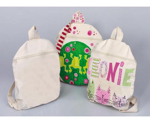 Blanko Kinder-Rucksack aus Baumwolle-2