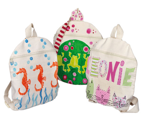 Blanko Kinder-Rucksack aus Baumwolle-1