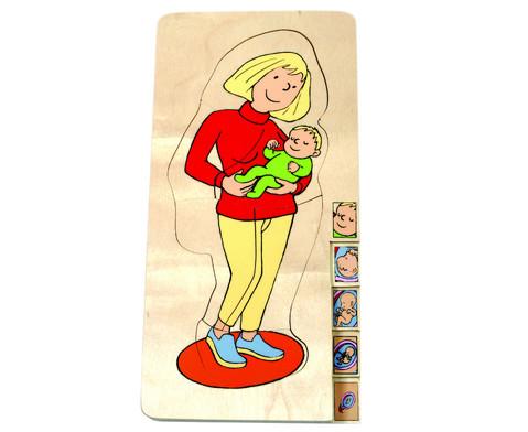 Schichtenpuzzle Mutter