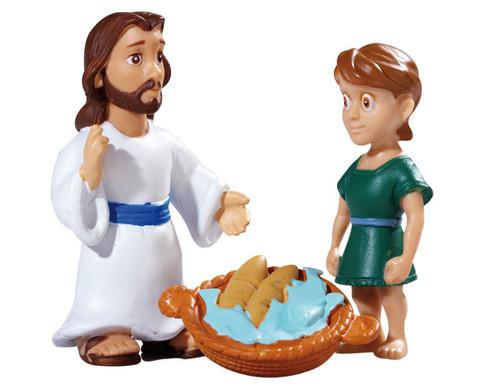 Bibelfiguren Jesus und ein Juenger-1