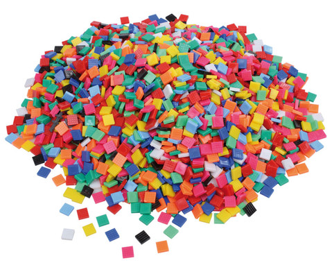 Mosaiksteine aus Kunststoff viereckig-1