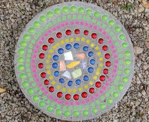 Mosaiksteine aus Kunststoff viereckig-3