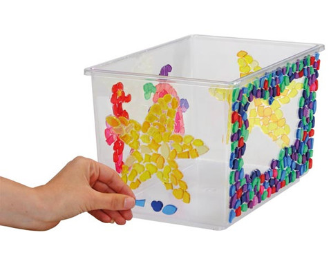 Transparente Mosaiksteine Kunststoff 1kg-2