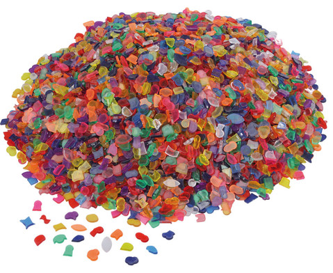 Transparente Mosaiksteine Kunststoff 1kg-1