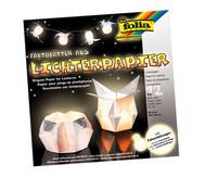 Lichterpapier, glänzend/weiß