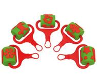 Stempelwalzen Weihnachten, 5 Stück