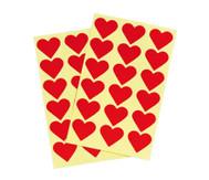 Herzaufkleber, 36 Stück