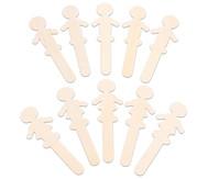 Holzfiguren zum Selbstgestalten, 10 Stück