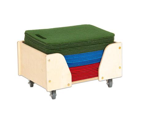 Boden-Sitzmatten mit Wagen