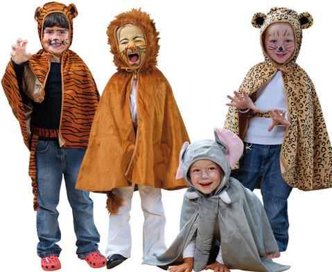Kostuem-Set wilde Tiere 4-teilig