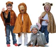 Kostüm-Set, wilde Tiere, 4-teilig
