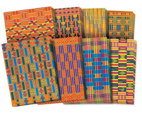 Papier im Afrika-Stil 32 Blaetter je 22 x 28 cm-1