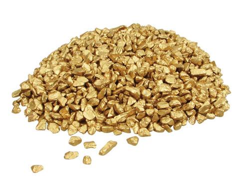 Piratengold 250 g gold gefaerbte Kieselsteine-1