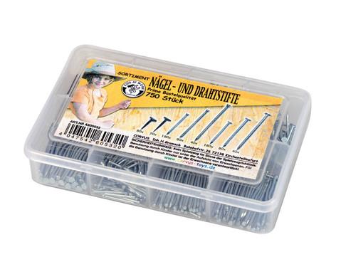 Naegel und Drahtstifte 750 Stueck-1