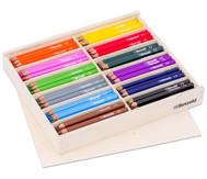 144 Dreikant-Stifte im Holzaufsteller, flach mit Deckel